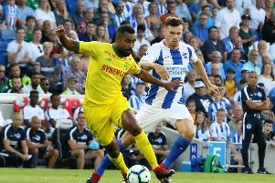 German midfielder Pascal Gross scored in Brighton's friendly win over Ligue 1 Nantes. Picture by Angela Brinkhurst