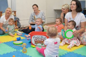 Musical babies at the Yews centre SUS-180918-115923001