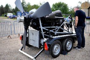 Meet Veterans of RAF Bomber Command and witness the first public run up of an original 1943 Rolls Royce Merlin XX Halifax engine restored after recovery from a bog in Germany in 2010. Pic Steve Robards SR1824235 SUS-180917-110652001