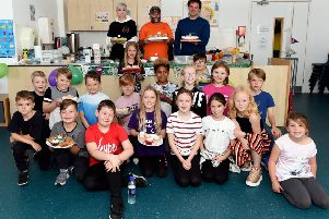 MacMillan Coffee Morning.''A coffee morning is being held to raise money for the  Macmillan charity, in memory of Dr Ben Ross, who lost his life to cancer at the age of 89.''Pictured are the dance group, BPM Dance Academy, The Logic Crew and parents. ''Bolnore Village School, Middle Village, Haywards Heath, Mid Sussex. ''Picture: Liz Pearce 29/09/2018''LP181566 SUS-180930-140932008