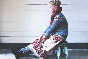 A traditional hand-knitted sweater by Hambro and Miller