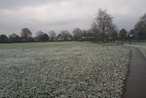 Adastra Park Hassocks with snow this morning, picture by Joshua Powling