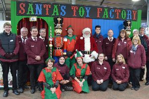 Santa's team of helpers ready to staff the toy factory