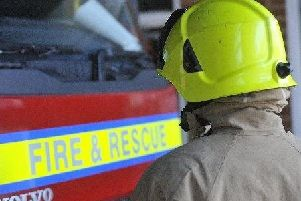 Six fire engines were sent to the fire at a derelict block of flats in Burgess Hill