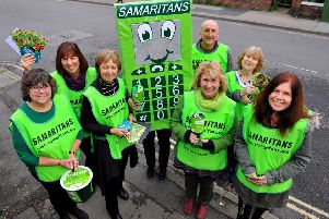 Horsham and Crawley Samaritans out raising awareness and funds. Pic Steve Robards SR1831156