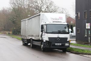 A HGV was involved in the collision in Albert Drive, Burgess Hill. Photo by Eddie Mitchell