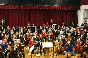 Mid Sussex pupils enjoying the Orchestra Day. Photos contributed