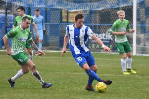 Haywards Heath Town's Karly Akehurst will miss Saturday's home game against Faversham Town through suspension. Picture by Grahame Lehkyj.