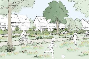 The Green Character Area sketch ''Northern Arc Burgess Hill.jpg''Picture: Homes England SUS-190801-143411001