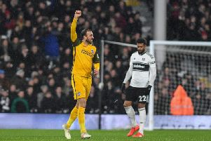Glenn Murray was back on the goal trail for Brighton as he hit a double in Albion's away with Fulham. All pictures by PW Sporting Photography.