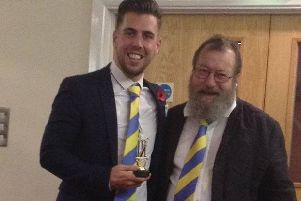 Glenn Moore (right) pictured with Hailsham director of cricket Rob Wilkinson