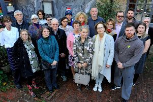 Concerned business owners at Borde Hill Garden. Photo by Steve Robards