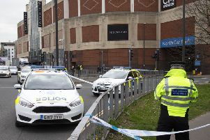 Police have cordoned off the entrance to Memorial Gardens