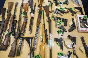 Shotguns, rifles, air weapons, handguns and imitation firearms are among the weapons surrendered to Police recently.
