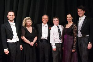 From left: Lawrence Olsworth-Peter (tenor), Sally Harrison (soprano), Robert Hammersley (conductor), George Rhodes (treble), Jane Haughton (alto) and Mike Christie (bass). Picture by Melvyn Walmsley