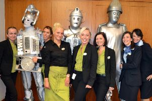 Arora Hotel staff at last year's Doctor Who convention