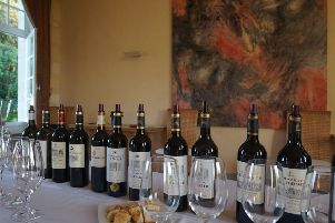 Tasting at a Dourthe Chateau