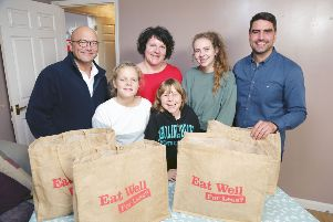 The Blackman family from Horsham are appearing on the TV programme Eat Well For Less with Gregg Wallace and Chris Bavin  SUS-190523-102711001