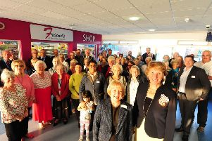 Lord-Lieutenant of West Sussex Susan Pyper with The Friends of Chichester Hospitals, opening the new shop in 2017. Picture: Kate Shemilt ks171050-1