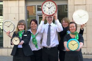 Yorkshire Building Society colleagues celebrate donating 100,000 volunteering hours
