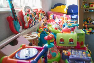There are more than 1,000 toys for the little ones to choose from