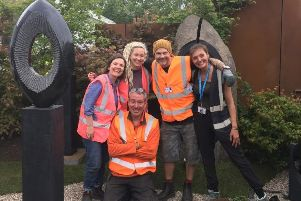 Plumpton College at the Chelsea Flower Show. ''Pictured is: Hilary O'Donnell Cam, John Mc Pherson, Celia Davies and Simon Brodwick-Ward and Rachel Owen