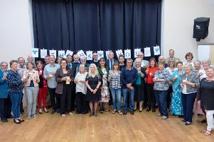 West Sussex Mediation Service volunteers at a celebration evening, held at Ashurst Village Hall