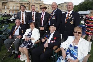 Members of the mid Sussex branch of the royal Sussex regiment association were  invited to the Not Forgotten Association annual garden party which was held at Buckingham palace.