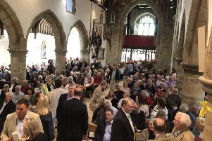 St Peter's Church was packed out on Friday night