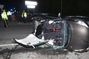 An RTC at the Buck Barn crossroads led to the A272 being closed