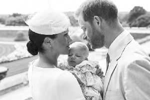 Official photo from baby Archie's christening. Photo: Chris Allerton/Sussex Royal