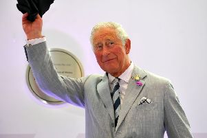 HRH Prince Charles visits L3Harris London Training Centre in Crawley. Pic Steve Robards SR1918175 SUS-191007-135940001