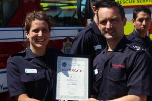 Lucy Stout will be based at Haywards Heath Fire Station