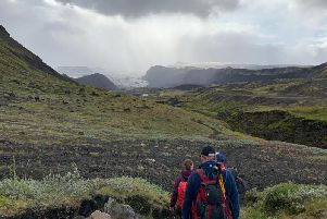 Mary trekked across the Icelandic highlands to raise over 3k for a local hospice.