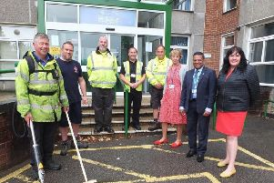 Councillors pictured with the new equipment. Picture: Mid Sussex District Council