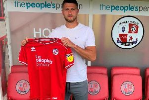 Jamie Sendles-White is looking to kick start his career at Crawley, where he has just made his first football league appearance in nearly three years in yesterdays 1-0 win over Mansfield Town