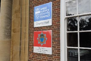 The new signs outside County Hall in Chichester