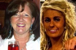Lorraine Clyde (left) and Michelle McStravick who were killed when their vehicle was struck by another car as they negotiated a road junction in Co Antrim