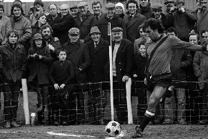 George Best in action for Tobermore United
