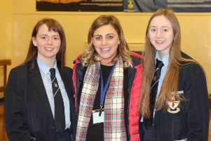 GCSE Physical Education Megan Ferson joint first; GCSE Physical Education  Rebecca McKeown  joint third, aong with their PE teacher Mrs Nicola Cheevers.