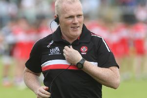 Derry senior football manager Damian  McErlain