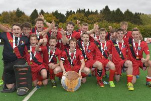 Celebration time for Banbridge Academy in 2015.