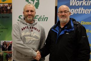 Cllr Peter Bateson with  Donal McPeake