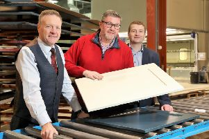 Pictured are Eamon Donnelly, Paul Donnelly and Simon Oliphant from Uform