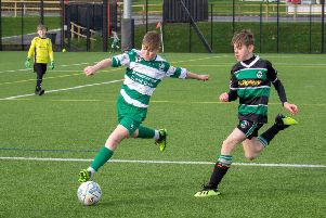 Action from Draperstown Celtic Under-13s game against Dungiven Celtic.