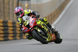 Paul Jordan on the Dafabet Devitt Kawasaki at the Macau Grand Prix last year.