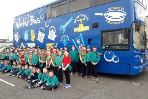 The Waterbus from NI Water visited Derrychrin Primary School to tell pupils about the water cycle. During the visit, the children learned about what can and can't be put down the toilet; only flush the 3 Ps: pee, poo and paper; what NI Water does to clean the water and how sewage is treated.