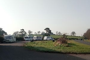 Travellers encampment at Oldtown Road, Castledawson