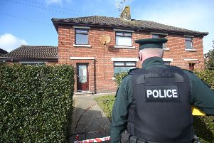 The scene at Loughview Gardens in Coalisland where a number of shots were fired at a house in the early hours of Sunday morning.  A number of people, including children, were in the property at the time but escaped uninjured. Picture by Jonathan Porter/PressEye