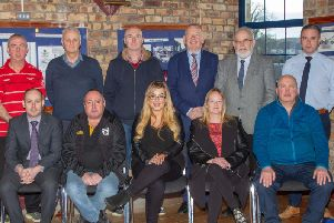Representatives of the new Coalisland Town Centre Forum are pictured at the first meeting.